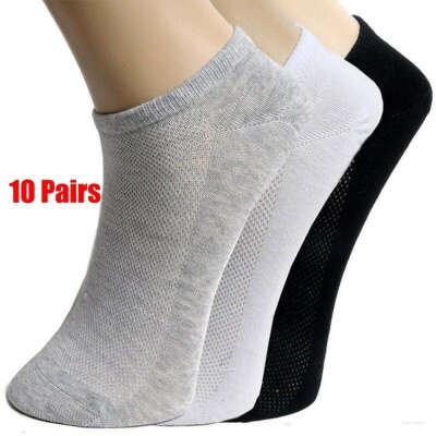 Solid Mesh Men's Socks Invisible Ankle Socks