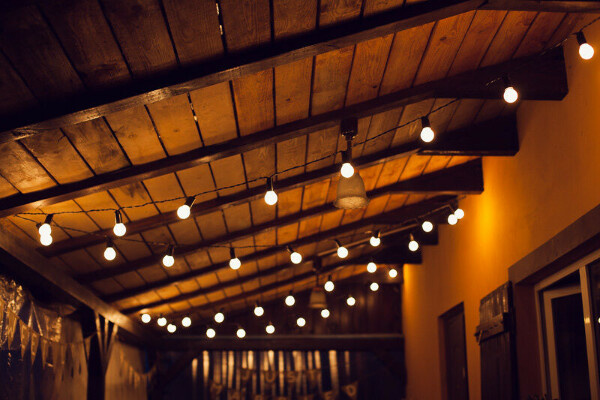 Гирлянда лампочки