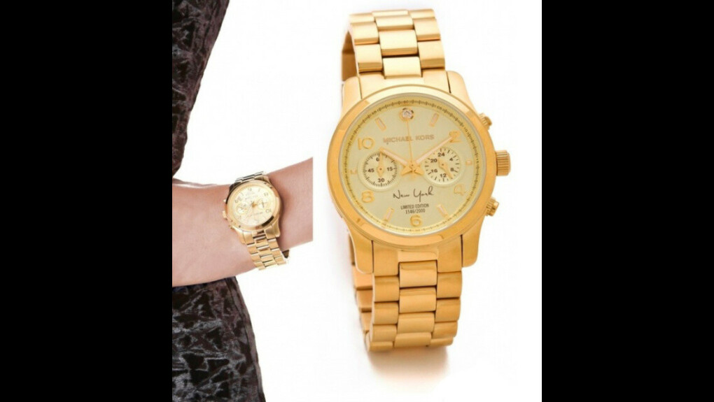 Золотые часы-браслет