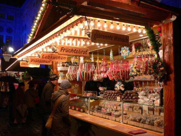Мюнхен в декабре на Рождество, с ярмарками и глинтвейном