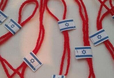 Красная нить с молитвой из Иерусалима