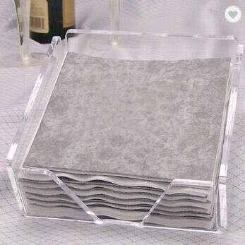 Квадратная прозрачная салфетница