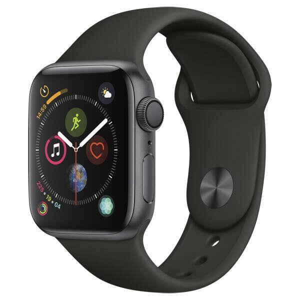 Смарт-часы Apple Watch S4 Sport 40mm SpaceGrey Al/Black Sport Band