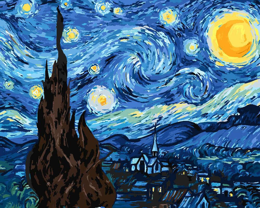 """Картина по номерам Ван Гог """"Звёздная ночь"""""""
