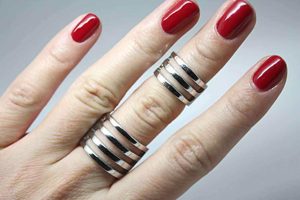 Кольца на фаланги пальцев из серебра