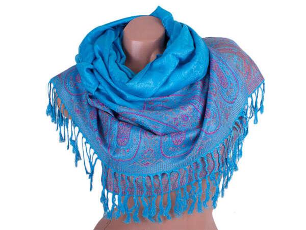 Голубой (тёплый) платок/палантин/шарф