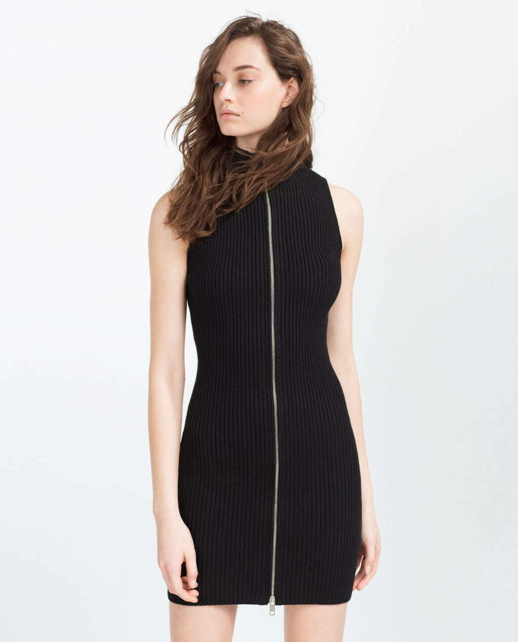 Платье с молнией впереди