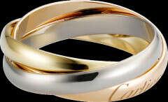 Кольцо Trinity, маленькая модель: Кольцо Trinity, маленькая модель, белое золото 18 карат, розовое золото 18 карат, желтое золото 18 карат.