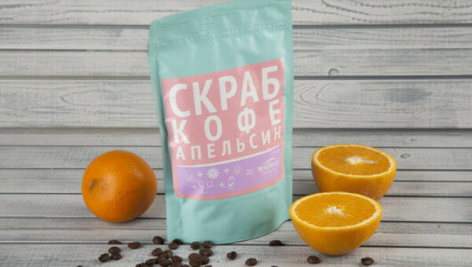 Скраб кофе и апельсин от ВкусВилл