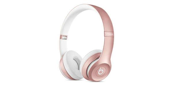 Беспроводные накладные наушники BeatsSolo2— «розовое золото»