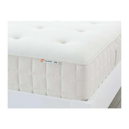 ХИЛЛЕСТАД Матрас с пружинами карманного типа - жесткий/белый, 140x200 см  - IKEA