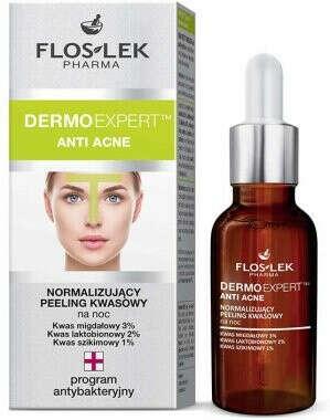 Нормализрующий ночной пилинг Floslek Dermo Expert Anti Acne Peeling