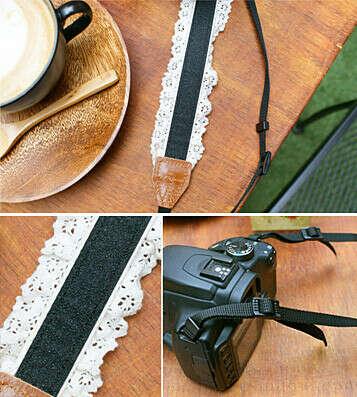 Ремешок для фотоаппарата Check Flower - Brown