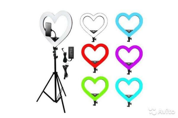 Кольцевая лампа в форме Сердца RGB