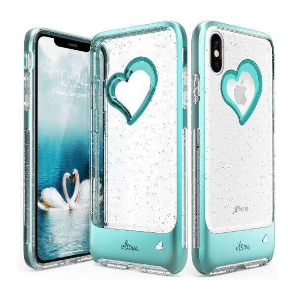 iPhone XS Max Glitter Heart Case vLove Glitter (Pre-Order)