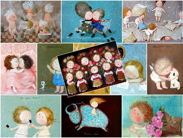 Открытки с иллюстрациями Евгении Гапчинской