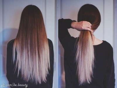 Покрасить волосы в омбре