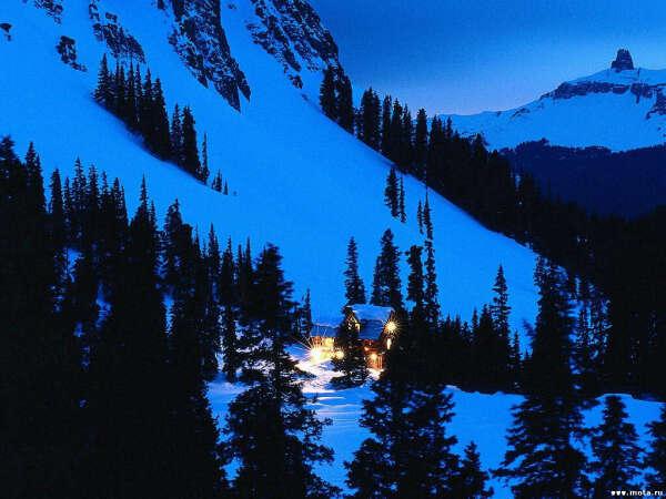 Провести зимние каникулы с родными в горах