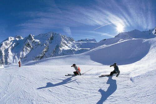 Покататься на горных лыжах в Альпах