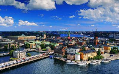 в Стокгольм