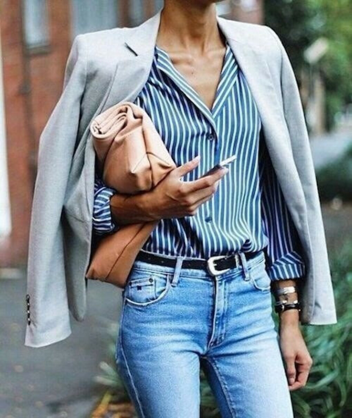 Рубашку (блузку) в полоску