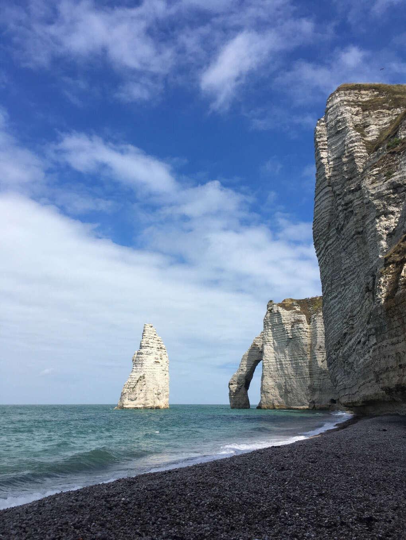 Побывать на побережье Нормандии (Этрета)