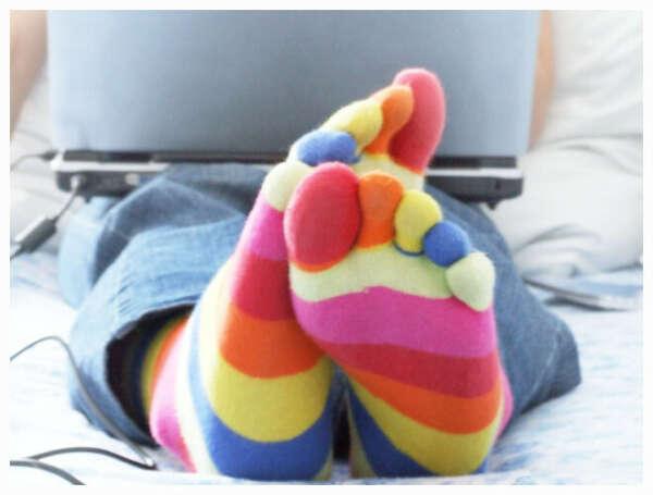 Носки в пальцами