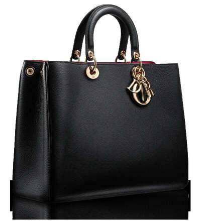 "Large black leather ""Diorissimo"" bag"