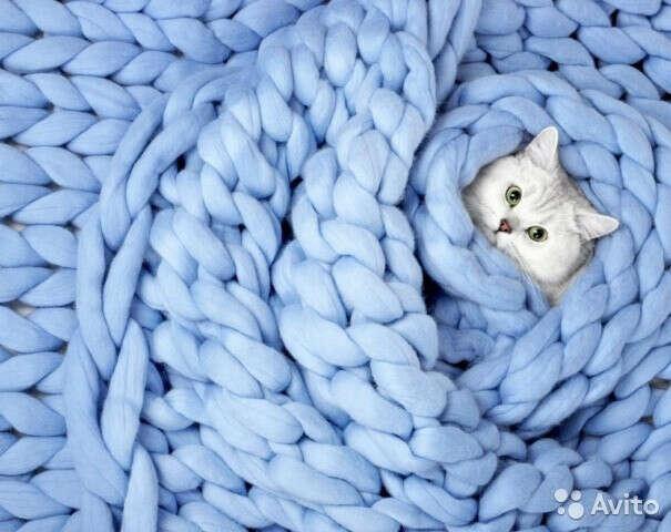Woolie - пледы крупной вязки