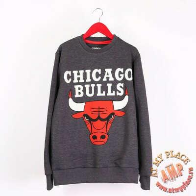 Темно-серая толстовка-свитшот Chicago Bulls