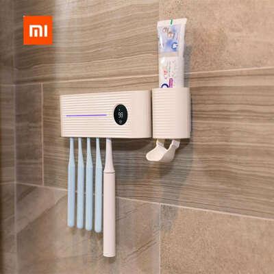 457.37руб. 26% СКИДКА|Xiaomi sothing УФ лампа держатель стерилизатора для зубной щетки ингибирует бактериальную зубную щетку Антибактериальный Автоматический Дозатор зубной пасты|Смарт-гаджеты|   | АлиЭкспресс