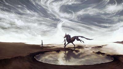 Верхом на лошади галопом
