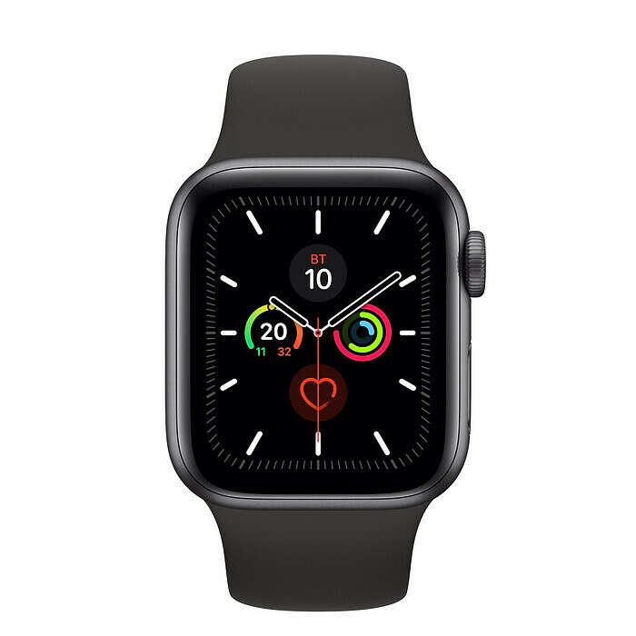 Часы Apple Watch Series 5 40 мм, корпус из алюминия цвета серый космос