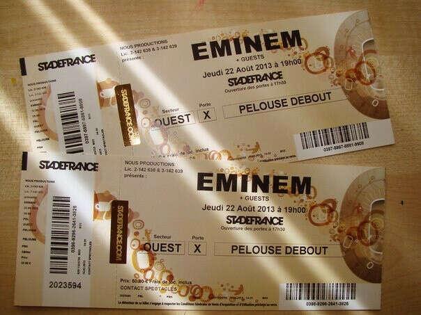 Хочу билеты на концерт Эминема!