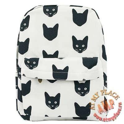 """Рюкзак """"Черные котики"""""""