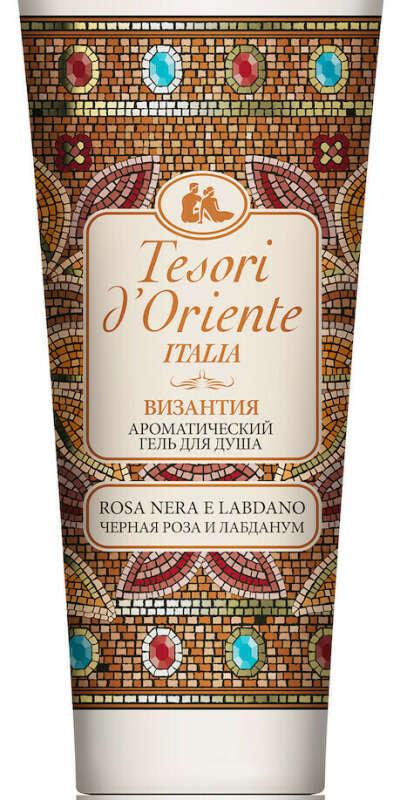 Tesori d'Oriente Ароматический гель для душа Черная роза и лабданум, 250 мл