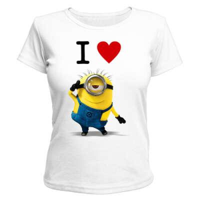 Женская футболка I love minions