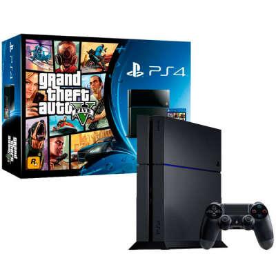 Игровая консоль PlayStation 4 Sony 500GB + GTA V (CUH-1108A)