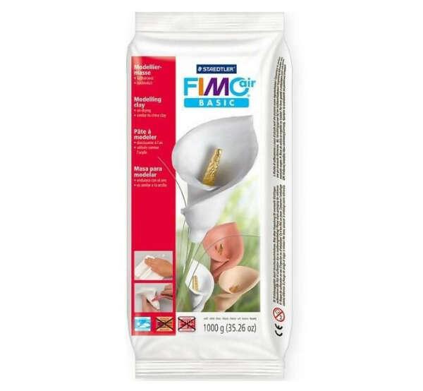 FIMOair BASIC самозастывающая полимерная глина, 500 гр., цвет белый