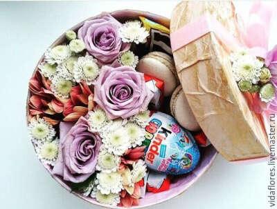 Цветы в коробках Волгоград. Домашние десерты с доставкой!