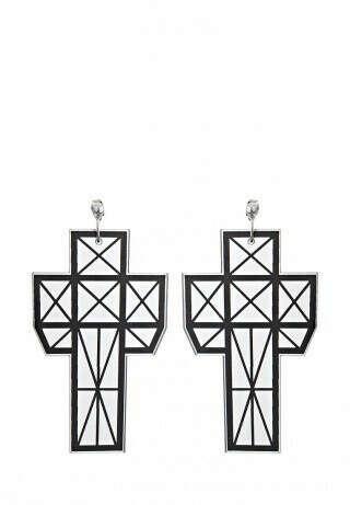 Серьги-гвоздики кресты