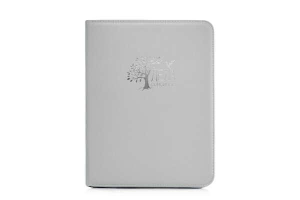 Дела Семейные Eco Grey ✪ светло серая папка для хранения семейных документов ✪ искусственная кожа