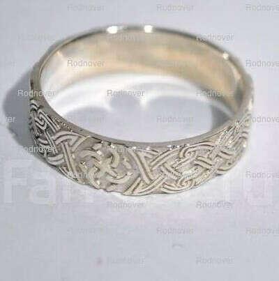 Серебряное кольцо с кельтской вязью