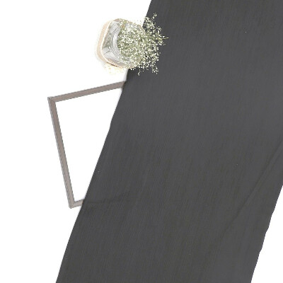 Black Imported Wrinkled Georgette Fabric