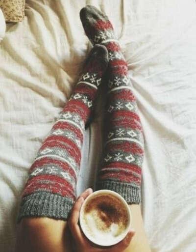 Теплые чулочки-носочки