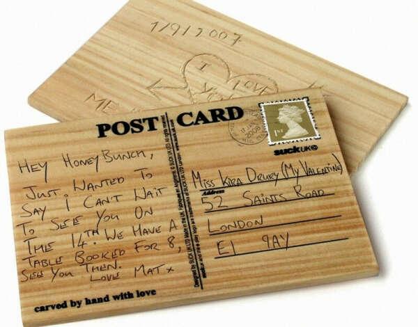 Деревянная открытка