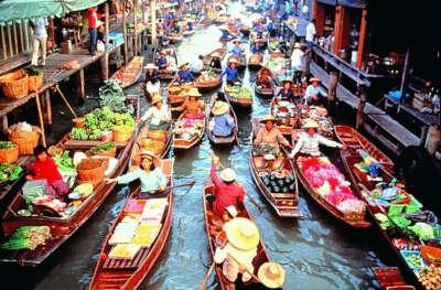 посетить плавучий рынок