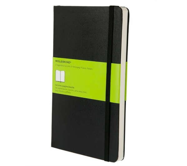 Записная книжка Moleskine Classic (нелинованная), Large (13х21см), черная