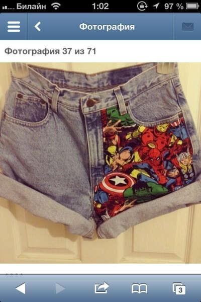 "шорты ""Marvel"""