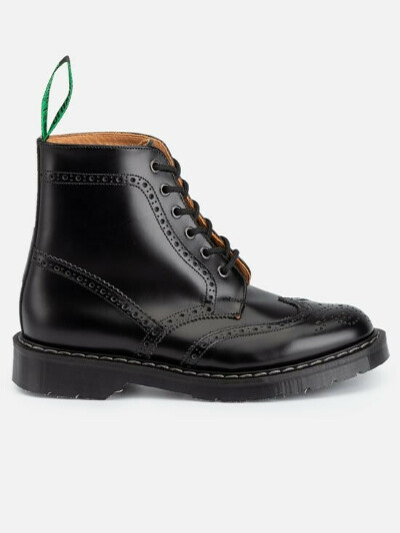 Black Brogue Boot S6-019-BK-G